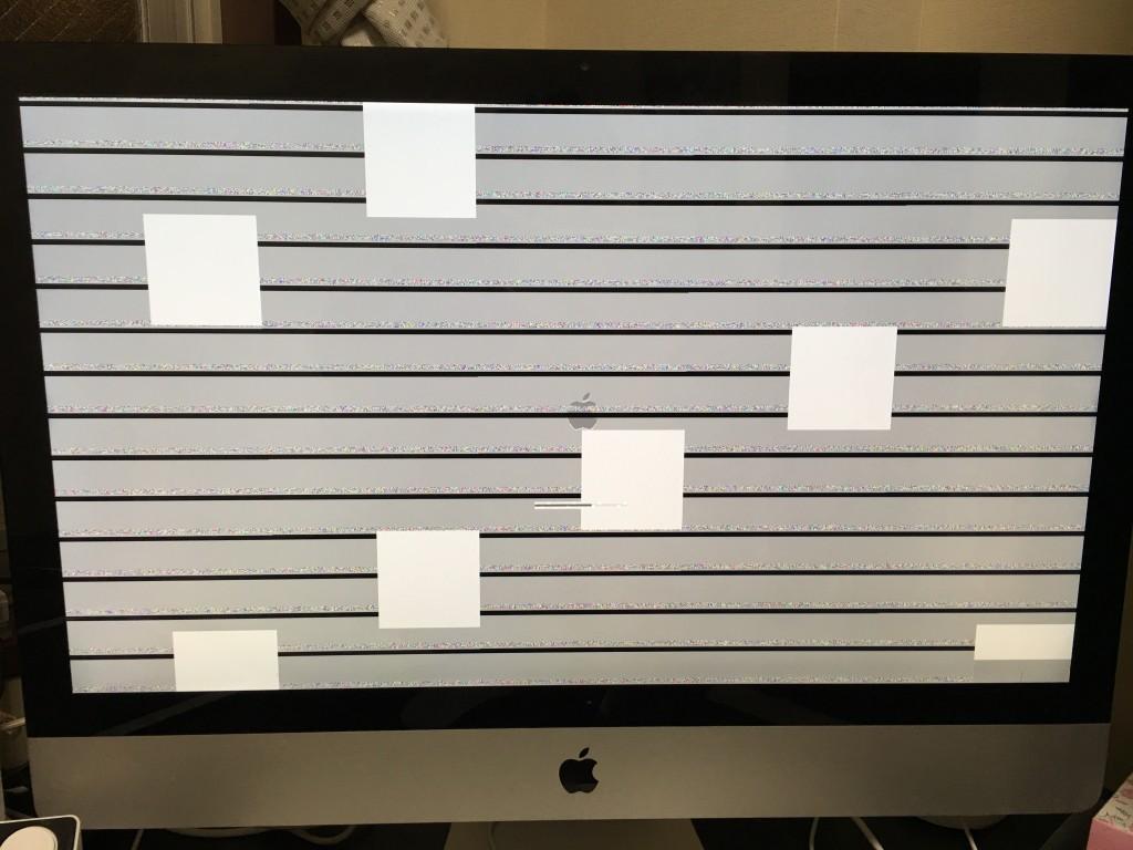 iMacの画面が乱れた